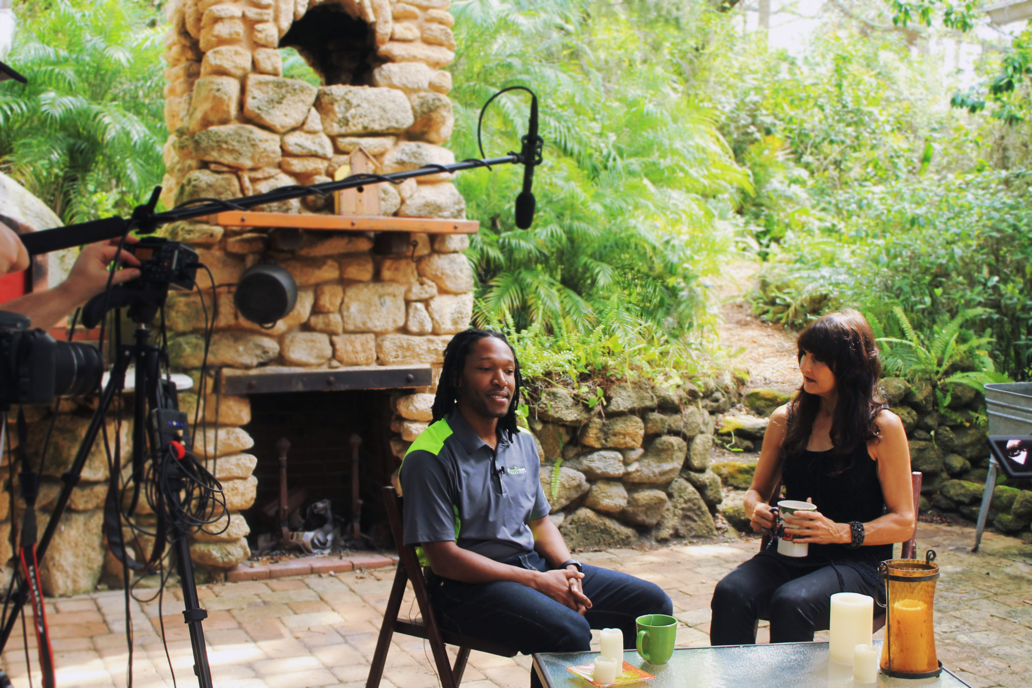 Jamison Gavin Entrepreneur having a conversation with Pam Hoelzle of Dear Rockstar