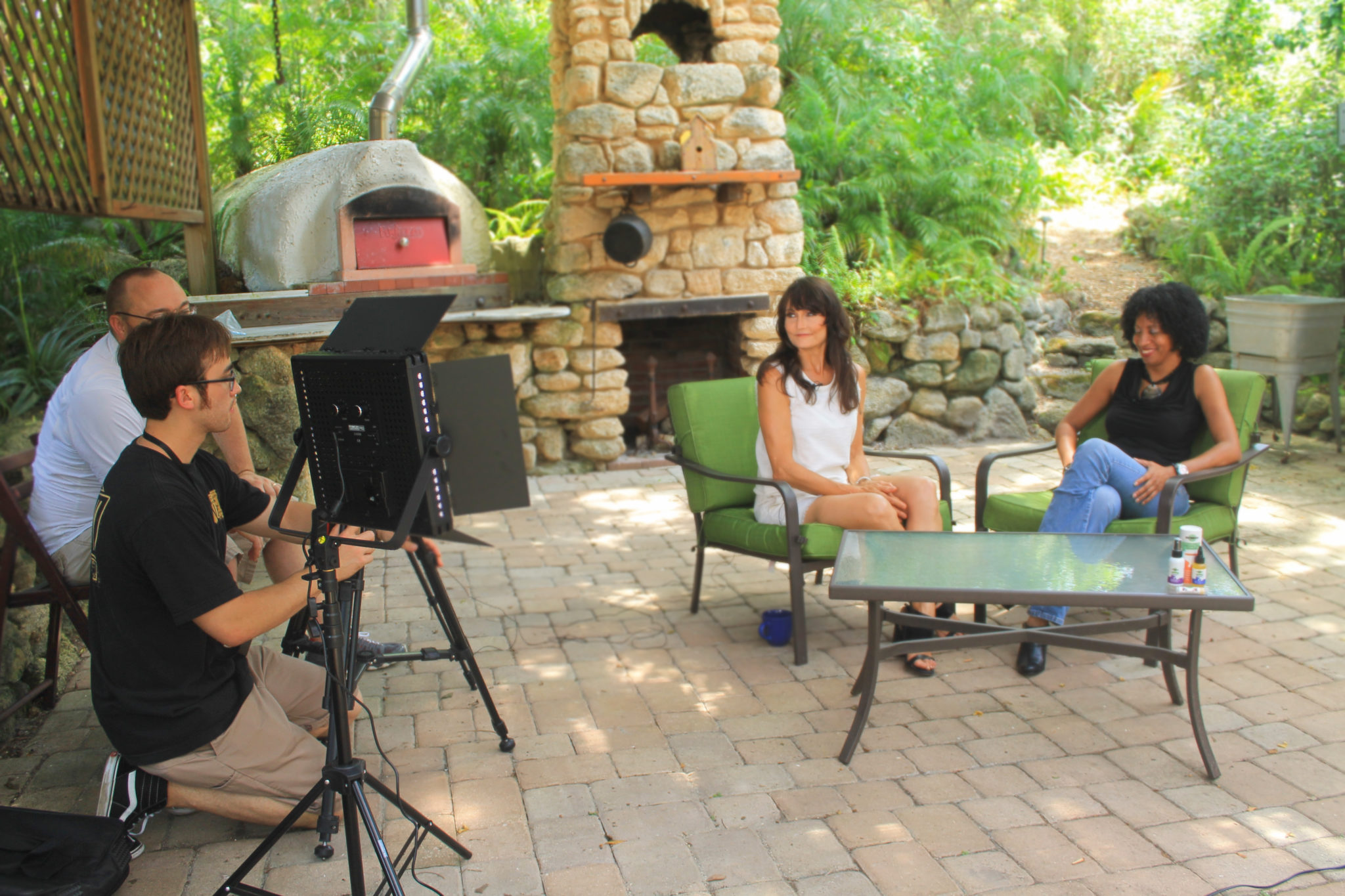 Pam Hoelzle and Janel Young sit down to chat about nearly dying and starting an organic pet care company