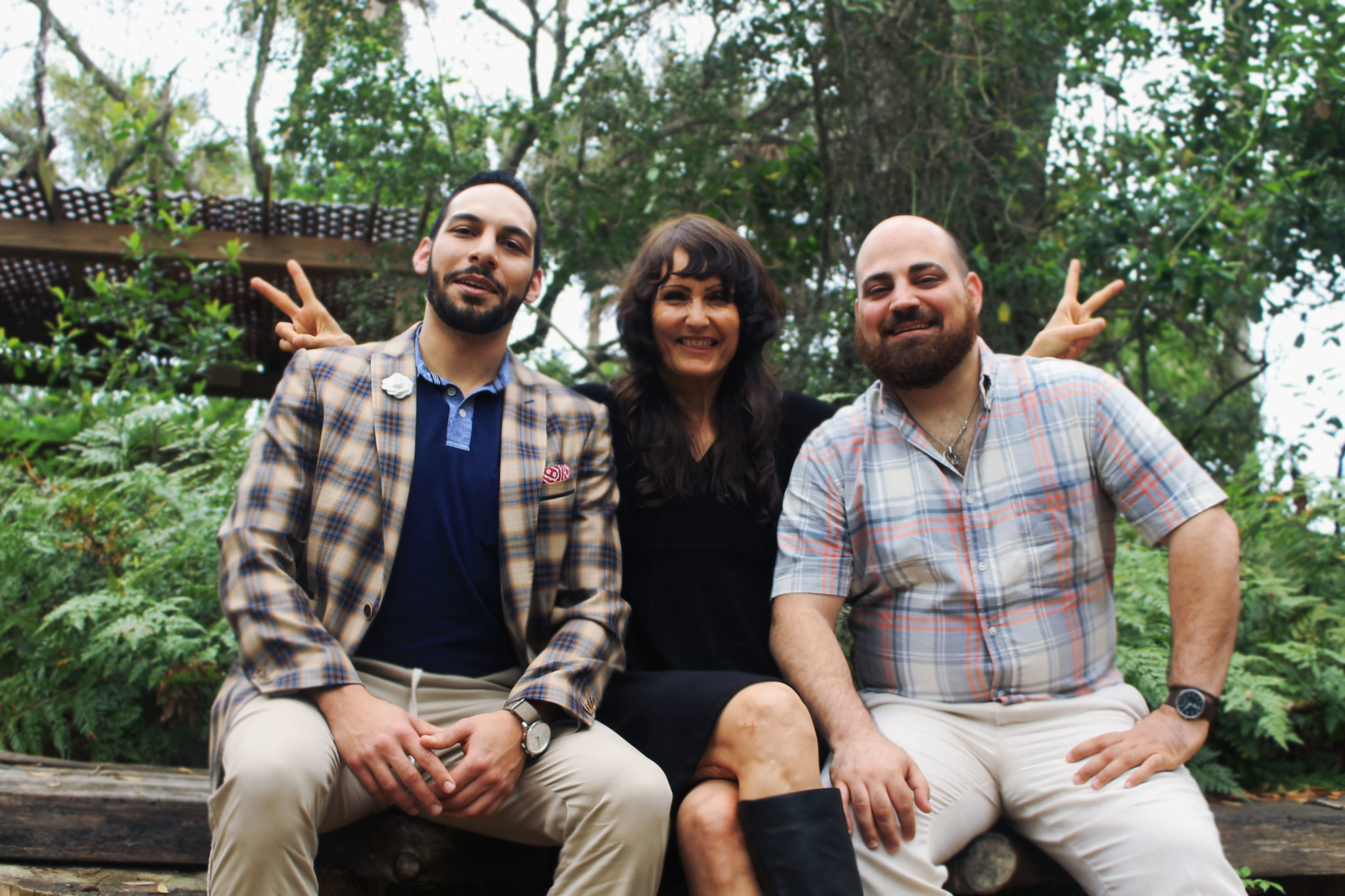Omar Khateeb and his business partner Adam, the co-founders of P.S. Mister with Pam Hoelzle during a dear rockstar conversation
